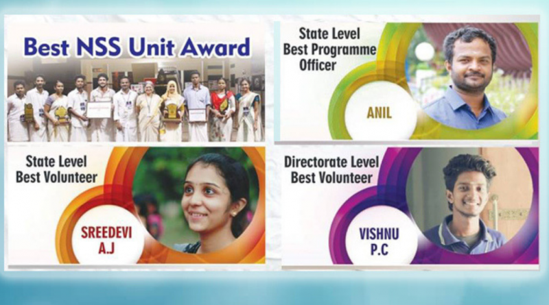 Great Govt recognition for the NSS units of Vidya