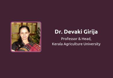 Dr Devaki Girija, Microbiology Professor, KAU, visits Vidya