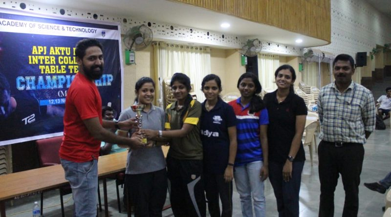 Table Tennis women team secures first position in E Zone championship