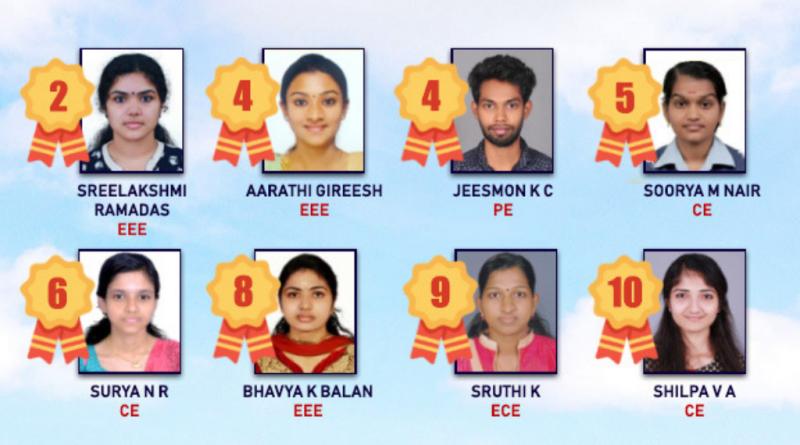 Vidya's eight students among top ten rank holders in 2017 B Tech pass-out batches