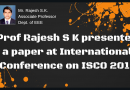 EEE faculty member presents paper in an international conference at Karpagam College of Engineering