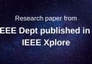 Research paper from EEE Dept published in IEEE Xplore