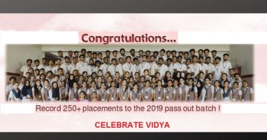 Record placements for the 2019 pass out batch: Vidya is great! Vidya is different!! Celebrate Vidya!!!