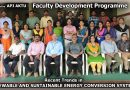 EEE Dept organises five-day FDP on Recent Trends in Renewable and Sustainable Energy Conversion Systems