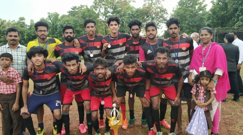 Vidya's football team becomes runner up in PODOSFERO 2K19