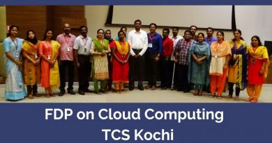 Vidya's faculty members attend FDP on Cloud Computing at TCS, Kochi