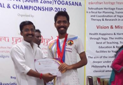 CSE student wins First and Second Prizes in National Yogasana Championship