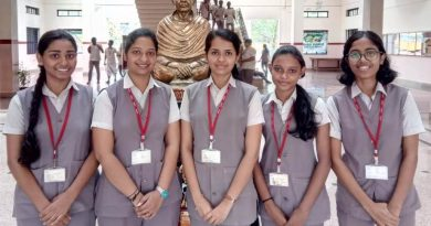 Four of the six final year students placed with Cognizant