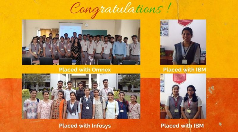 A commendable performance: 38 Vidya students placed in IBM, Infosys, Omnex in one week