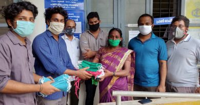 Vidya Engineering College makes and supplies masks to Puthukkad Panchayath