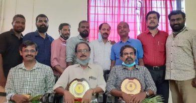 ME Dept bids farewell to Mr Velayudhan P and Mr Suresh T V