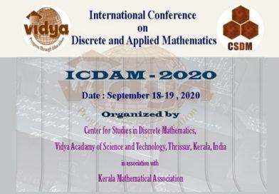 Vidya hosts International Conference on Discrete and Applied Mathematics 2020
