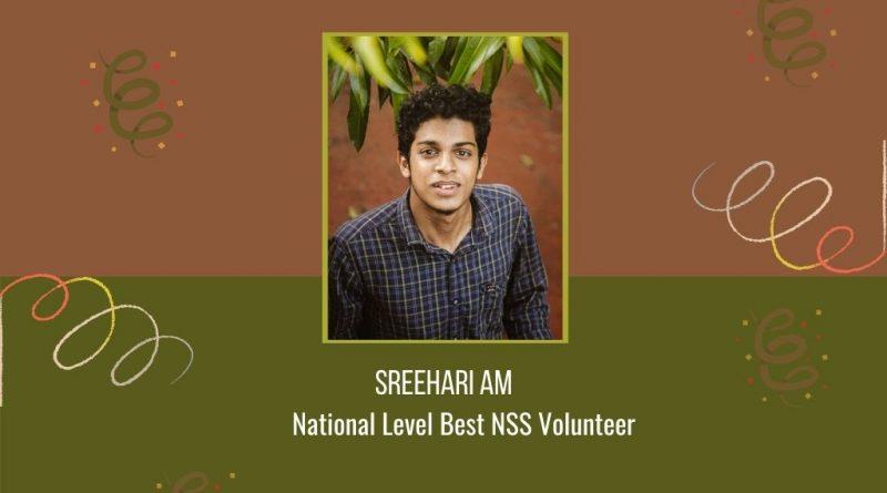 "Vidya NSS volunteer conferred ""National Level Best NSS Volunteer"" award"