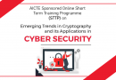 CSE Dept organises AICTE sponsored STTP on Emerging Trends in Cryptography