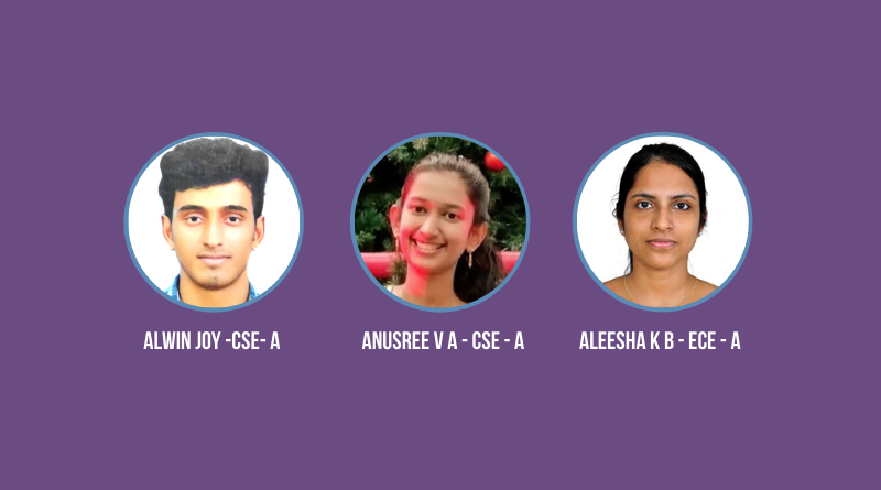 Three final year B Tech students placed with GadgEon