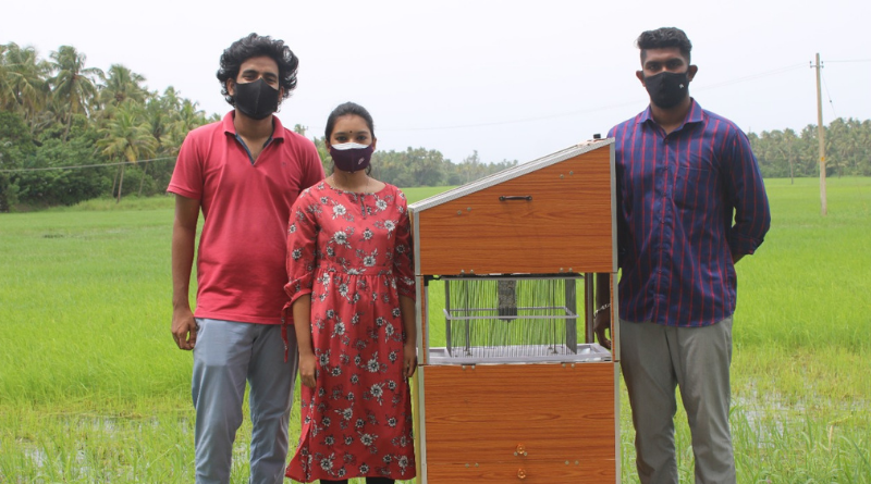 EEE students develop solar powered system to destroy farm pests