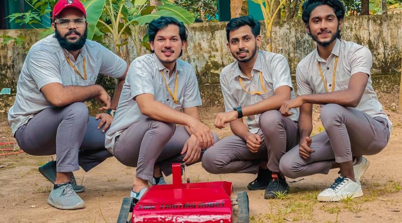 ME students develop robot car that extinguishes fire