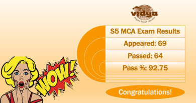 S5 MCA batch of Vidya secures 92.75% pass in KTU exams