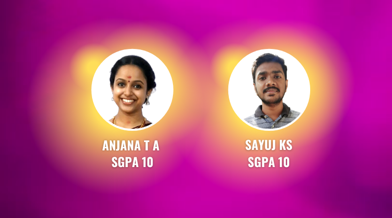 Vidya's (and KTU's) top performers in S5 B Tech results