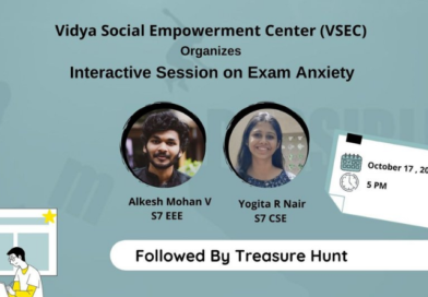 """VSEC's interactive session for school students on """"Exam Anxiety"""""""